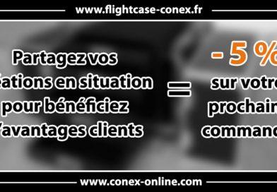 réduction pour achat sur conex-online
