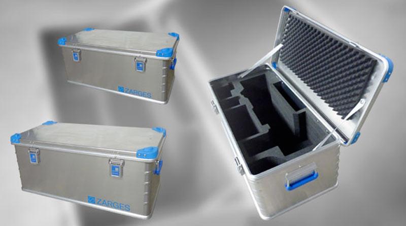 caisses aluminium zargal avec mousse conex