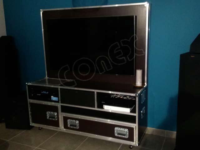flight case pour meuble de television