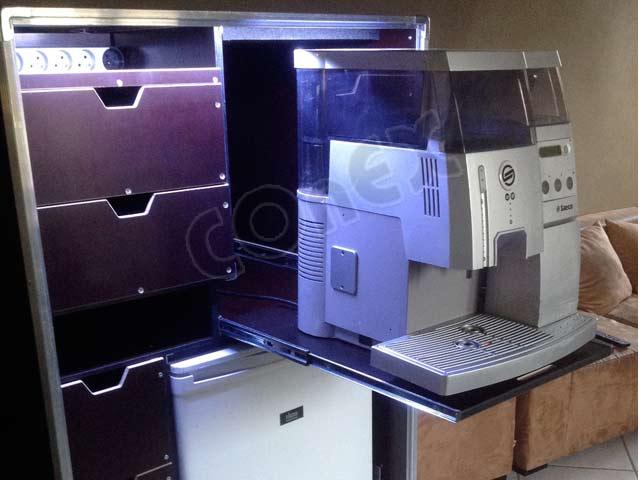 flight case sur mesure machine a café