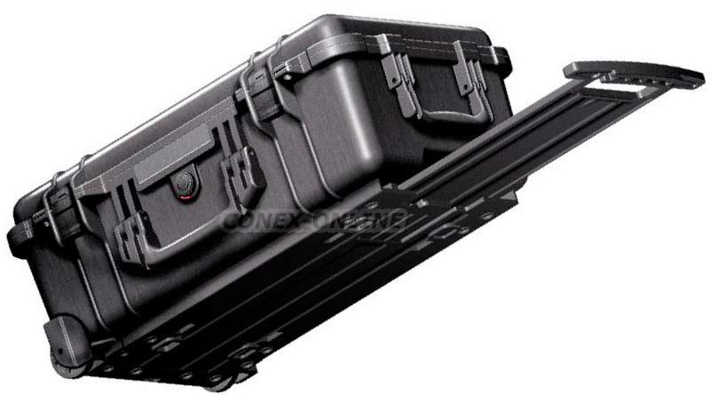 valise étanche pelicase avec trolley et roulettes